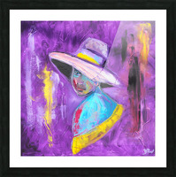 Woman in violet Picture Frame print