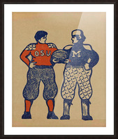 1901 Ohio State vs. Michigan Picture Frame print