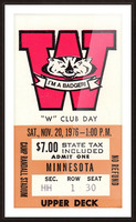 1976 Wisconsin vs. Minnesota Picture Frame print