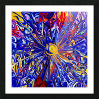Abstract Rainbow Blue Sun Picture Frame print
