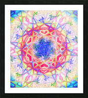Psychedelic Art Hexagon Mandala Handdrawing Picture Frame print