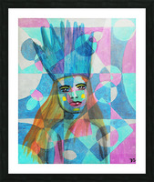 Woman in blue-5 Picture Frame print