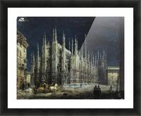 Notturno di Piazza del Duomo a Milano Picture Frame print