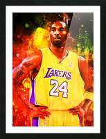 Kobe Bryant Picture Frame print