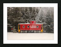 Soo Caboose in Fresh Snow Picture Frame print