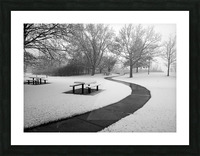 Winter Picnic Picture Frame print