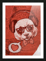 Cool Panda Picture Frame print