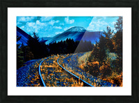 Rail  Picture Frame print