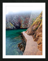 SEASIDE PATH Picture Frame print