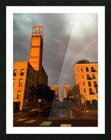 Mill District Rainbow Picture Frame print