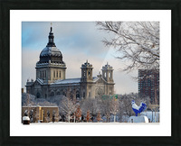 Basilica and Blue Rooster  Picture Frame print
