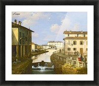 Il Naviglio dal ponte di San Marco Picture Frame print