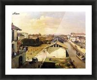 Veduta del Naviglio di San Marco dalla terrazza di Ca Medici, Milano, 1837 Picture Frame print