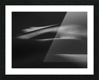 ombres dans la neige Picture Frame print