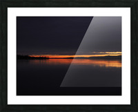 coucher flamboyant Picture Frame print
