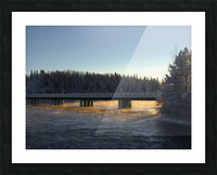pont soleil Picture Frame print