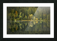 Mountain Lake in Fall Picture Frame print