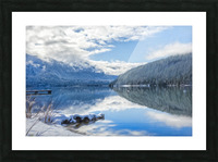 Snowy Day on the Lake Picture Frame print