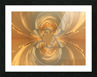 Golden Lotus  Picture Frame print