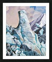 Glacier 3 Picture Frame print