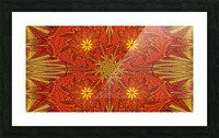 Golden Lotus In Light 4 Picture Frame print