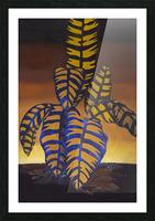 Blue Phoenix Picture Frame print