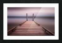 The jetty on Comox Lake Picture Frame print