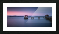 Mumbles pier and lifeboat station in Swansea Picture Frame print