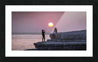Photo opportunity at Nash Point Picture Frame print