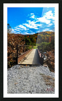 Rugby Pitch Bridge-- Autumn Picture Frame print