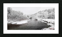 Dog River-- Winter Picture Frame print