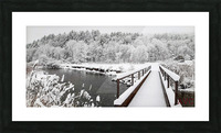 Rugby Pitch Bridge- Winter Picture Frame print