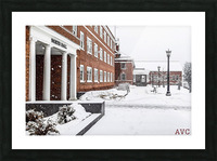 North Hall- Winter Picture Frame print