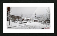White Chapel-- Winter Picture Frame print
