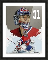 Carey Price portrait Picture Frame print
