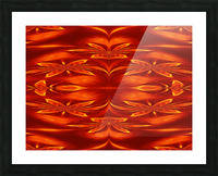 Fire Flowers 21 Picture Frame print