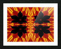 Fire Flowers 89 Picture Frame print