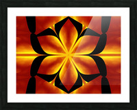 Fire Flowers 91 Picture Frame print