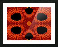 Fire Flowers 105 Picture Frame print