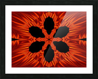 Fire Flowers 106 Picture Frame print