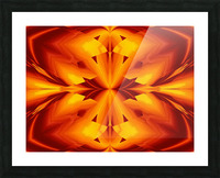 Fire Flowers 109 Picture Frame print