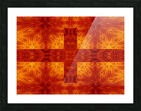 Fire Flowers 151 Picture Frame print