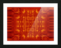 Fire Flowers 166 Picture Frame print