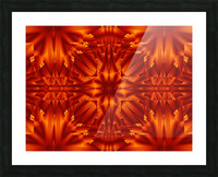 Fire Flowers 187 Picture Frame print
