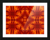 Fire Flowers 191 Picture Frame print