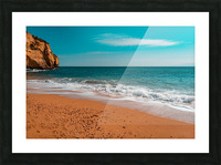 Ocean Beach in Teal and Orange Picture Frame print