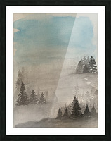 Trees in the Mist Picture Frame print