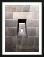 Incan Stonework Picture Frame print