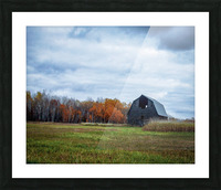autumn barn Picture Frame print