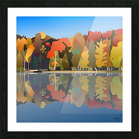 Crystal Lake Picture Frame print